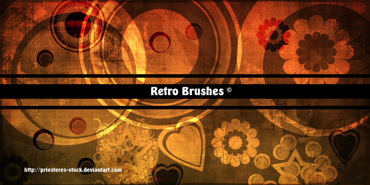 retro Brushes by priesteres-stock