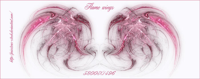pink flame wings by priesteres-stock