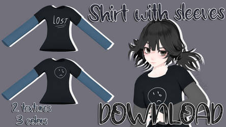 Shirt with sleeves DOWNLOAD by YunakiPix