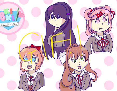 Doki Doki Literature Club GIF