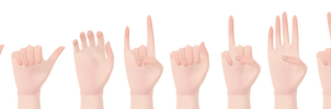 [MMD] Hand Pose Pack