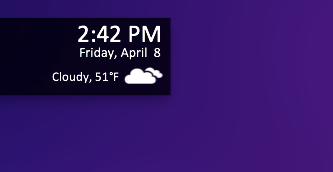 Custom Geektool Weather Icon by theBassment