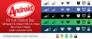 Android Kit Kat Status Bar for iOS 7