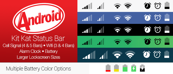 Android Kit Kat Status Bar for iOS 7 by theBassment