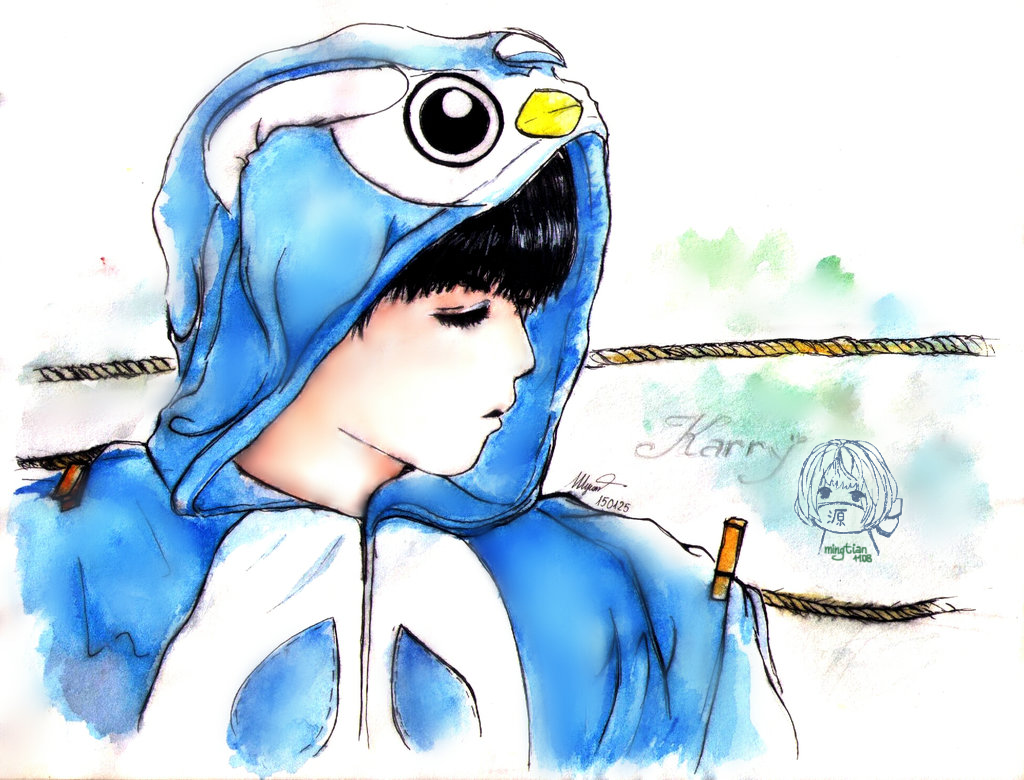 KarryWang- OwlBlue by Eritokaze