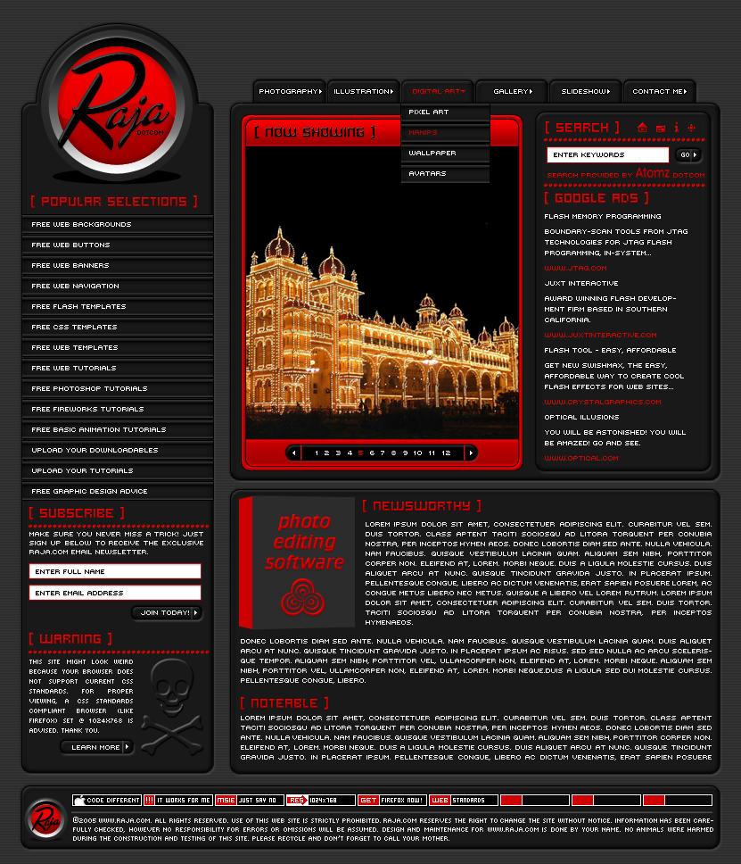 Maharaja Template by VelvetElvisDesign