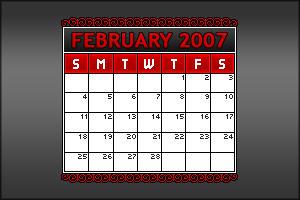 2007 Mini Calendar