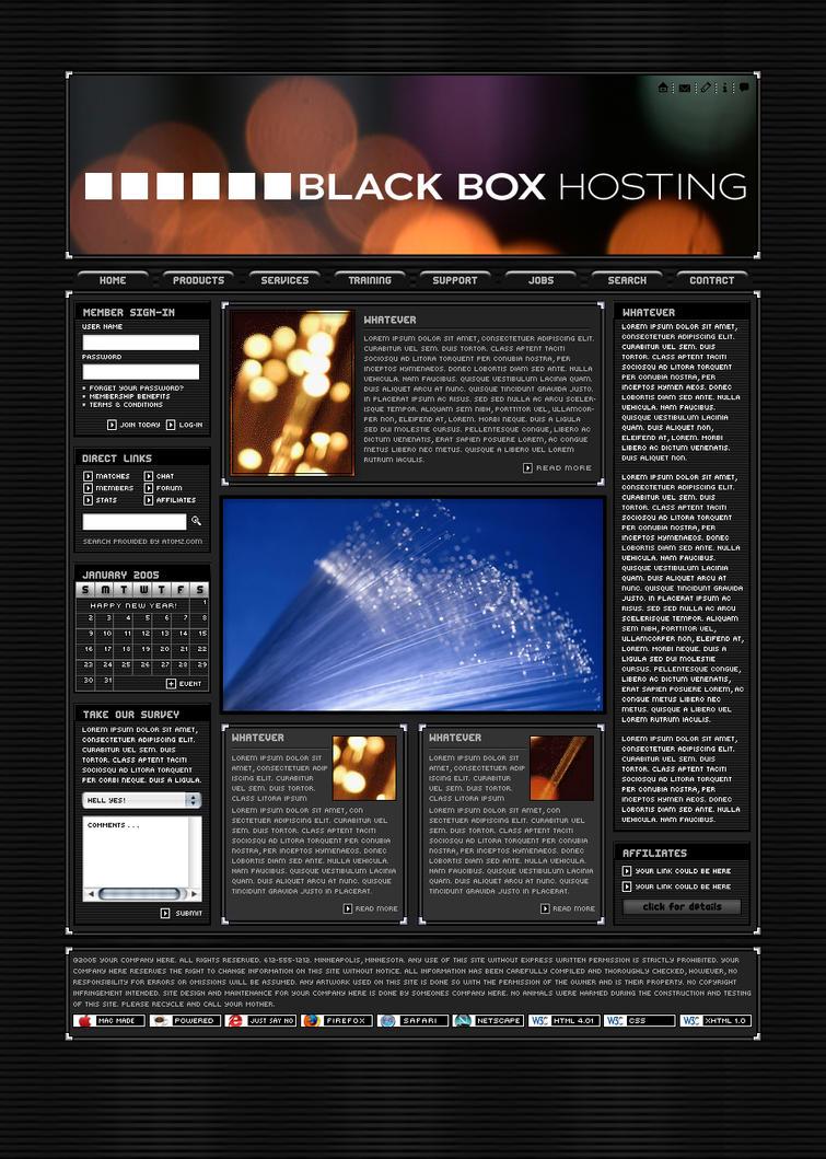 Black Box Hosting by VelvetElvisDesign