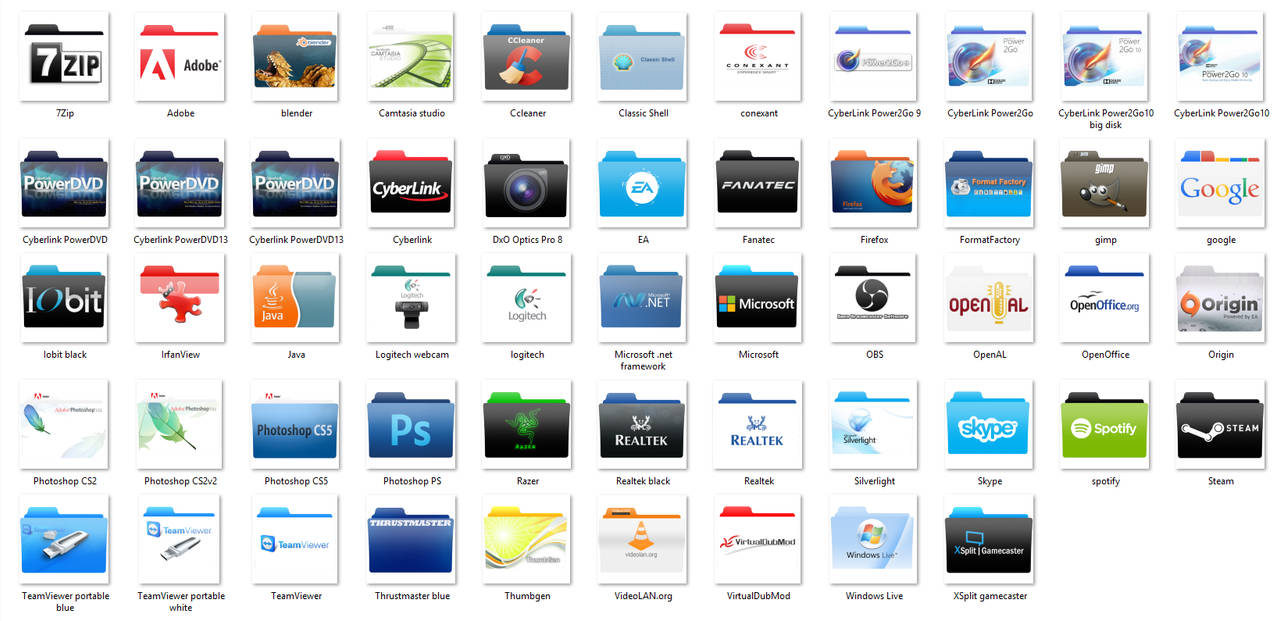 Software Folder Icon Pack1 v3 by mtbboyvt