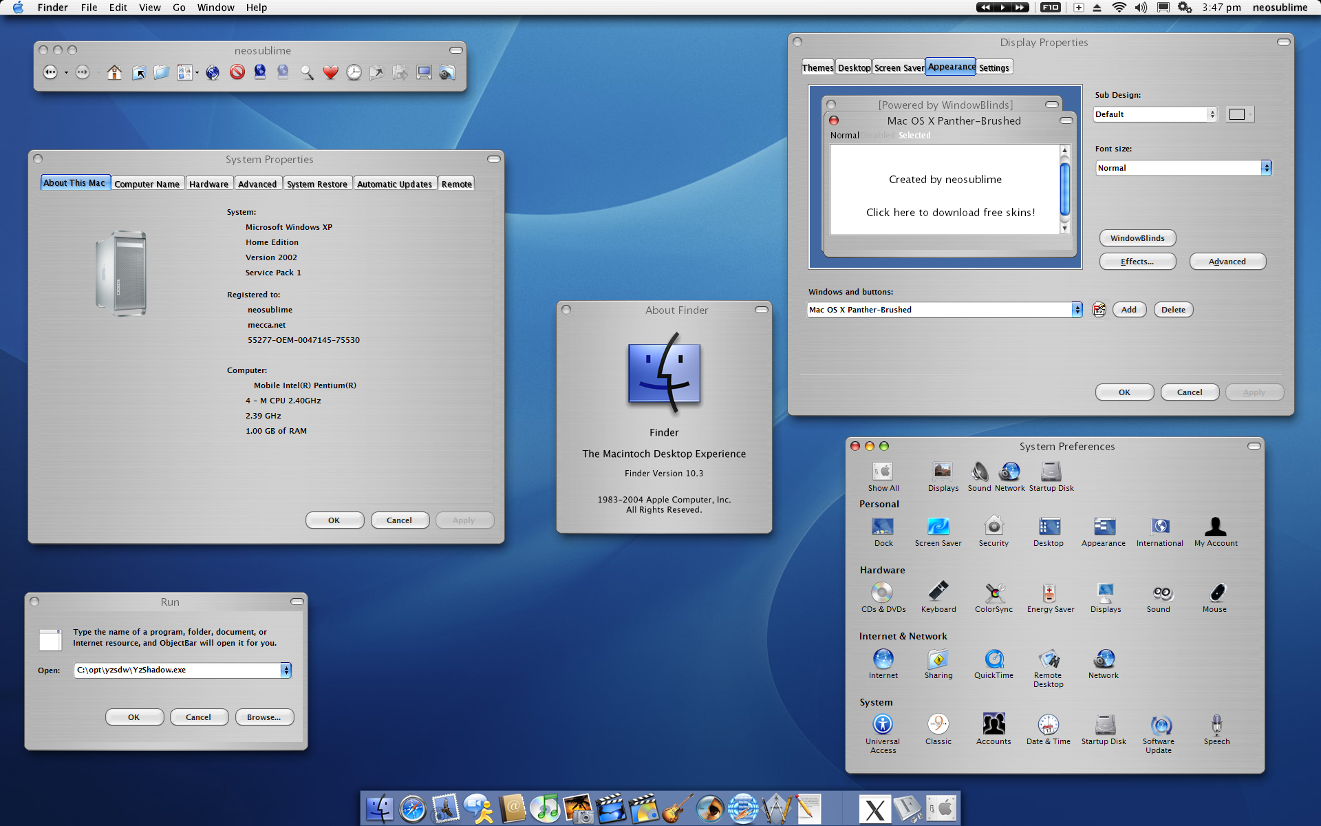 Mac OS X Panther-Brushed