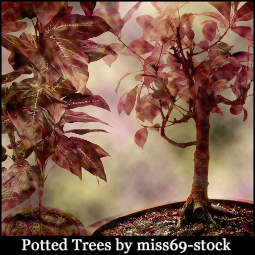 Potted Tree Brushes
