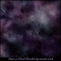 Stars-n-Cloud Brushes by miss69-stock