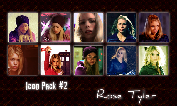icon rose. Rose Tyler Icon Pack by