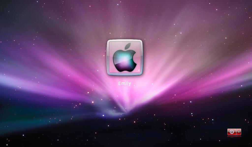 how to change login screen on mac