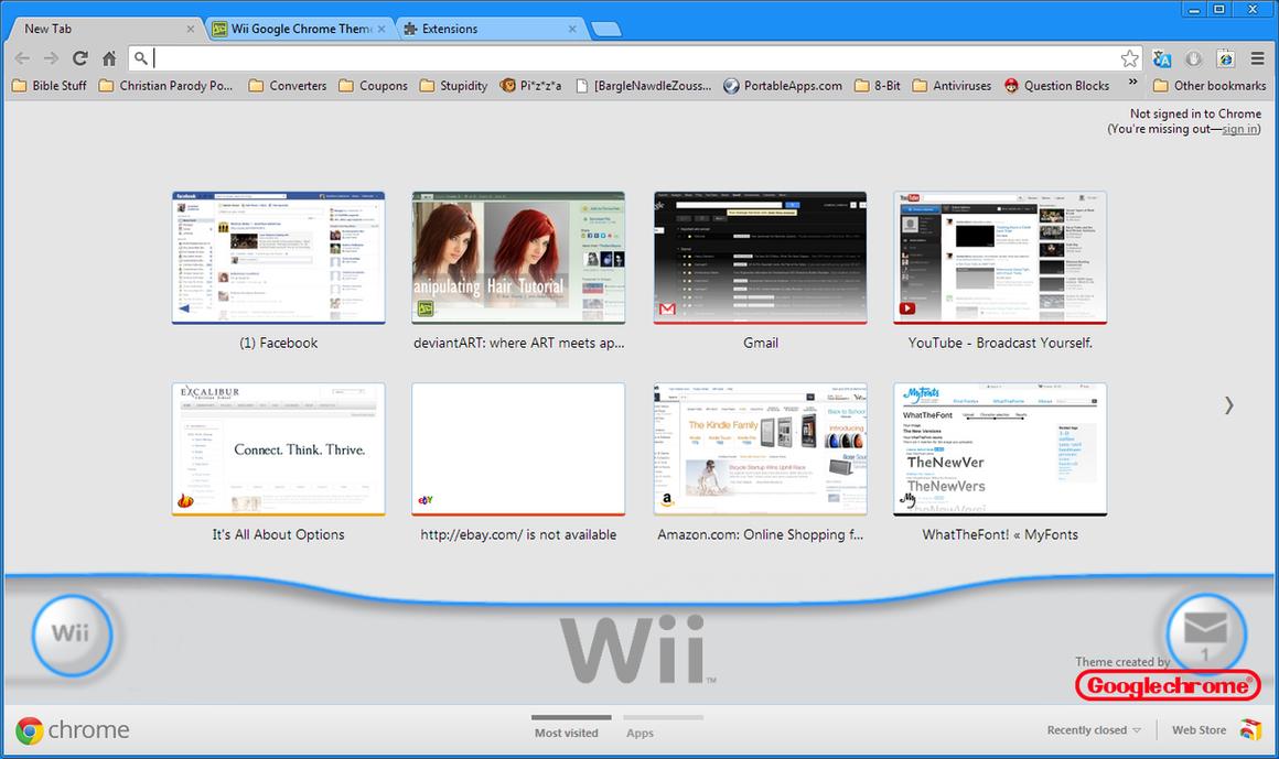 Gmail theme missing - Wii Google Chrome Theme By J Lindo