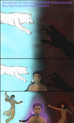 Two Wolves Story page 3.
