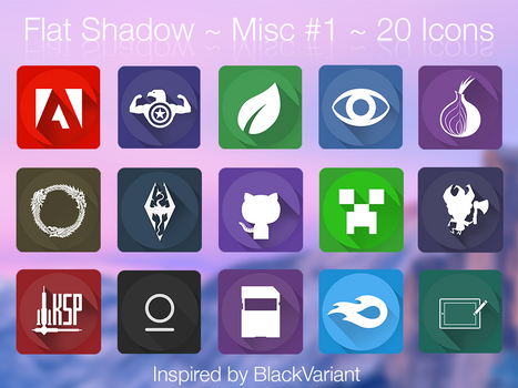 Flat Shadows - icon pack inspired by BlackVariant