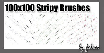 100x100 Stripy Brushes by thexunknown