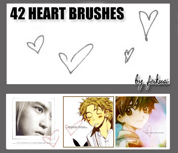 42 Heart Brushes by thexunknown