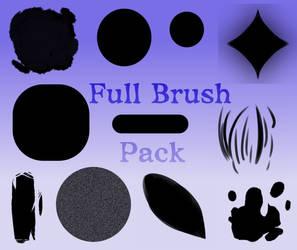 Full Brush Pack [Medibang Paint Pro/Firealpaca] by SpacialHair