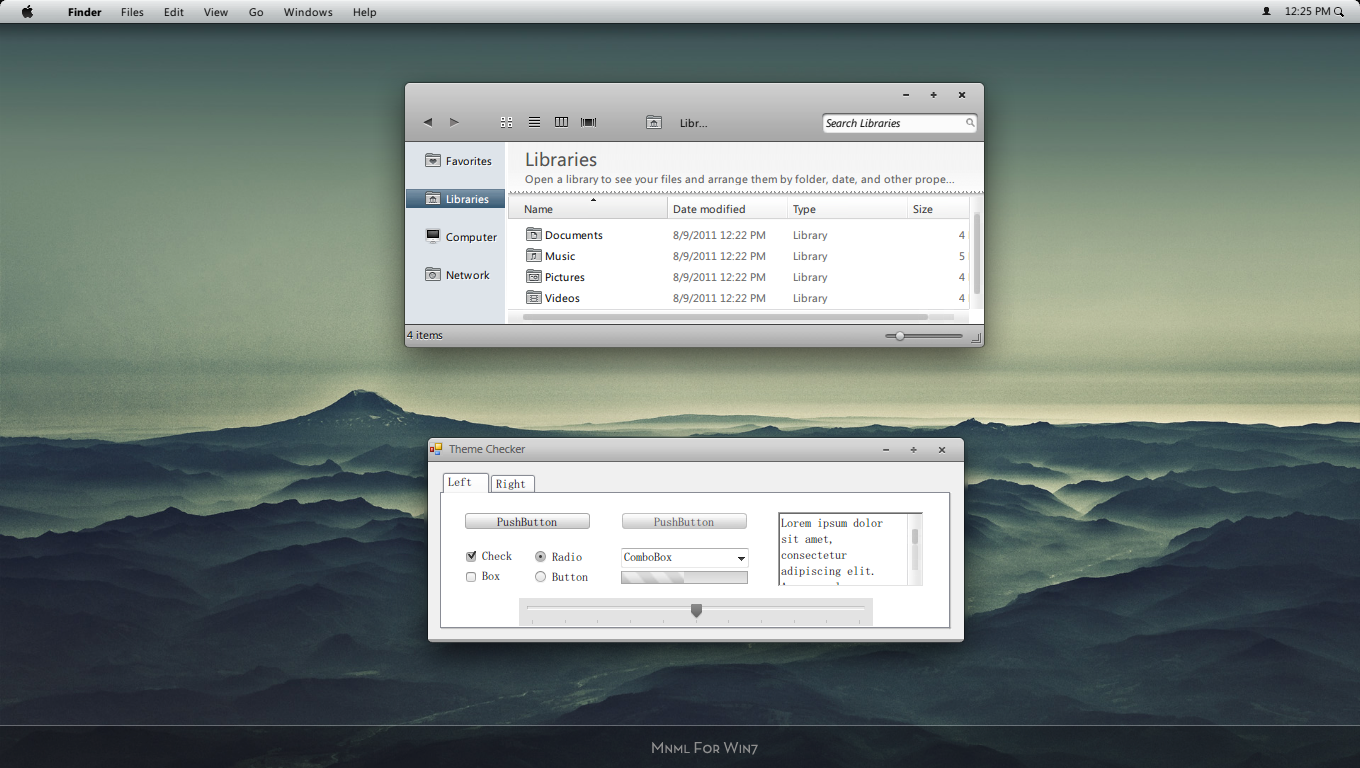 mnml for win7 by evthan