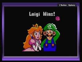 Peach gives Luigi his reward in kisses GIF by chacha125