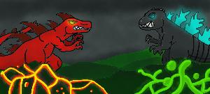 Zethasaurus vs. Godzilla by Zethasaurus