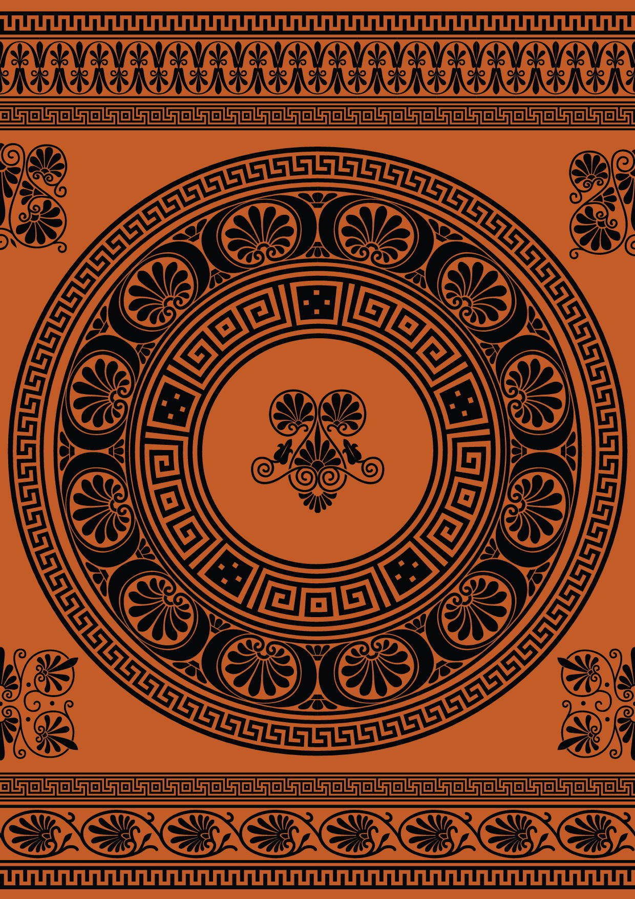 Ancient greek background Royalty Free Vector Image   Ancient Greece Wallpaper Designs