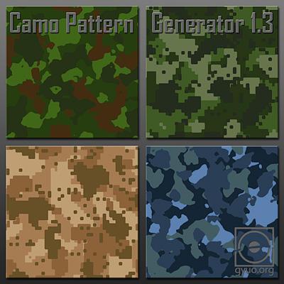 Camo Pattern Generator 1.3 by plastictrash