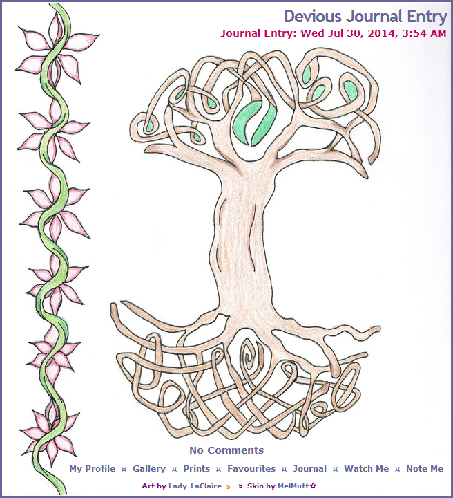 Tree of Life by Lady Laclaire journal skin by MelMuff