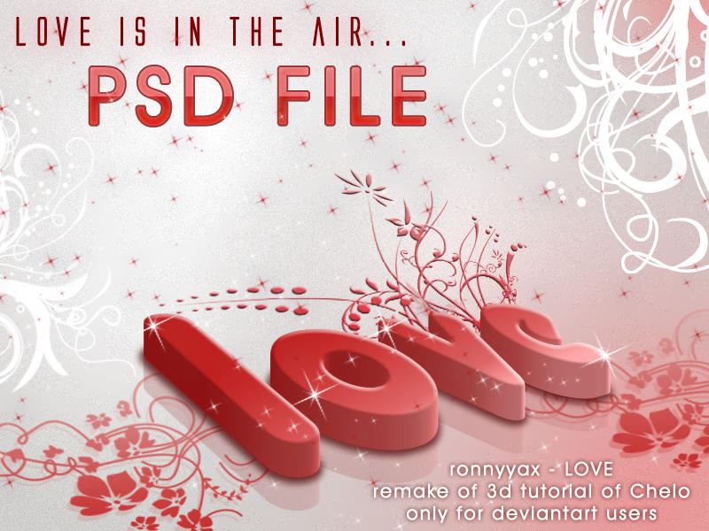 Love is in the air  PSD by ronnyyax