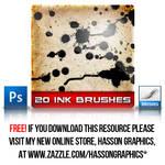 20 Ink Photoshop Brushes