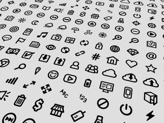 80 Free UI Icons by jhasson