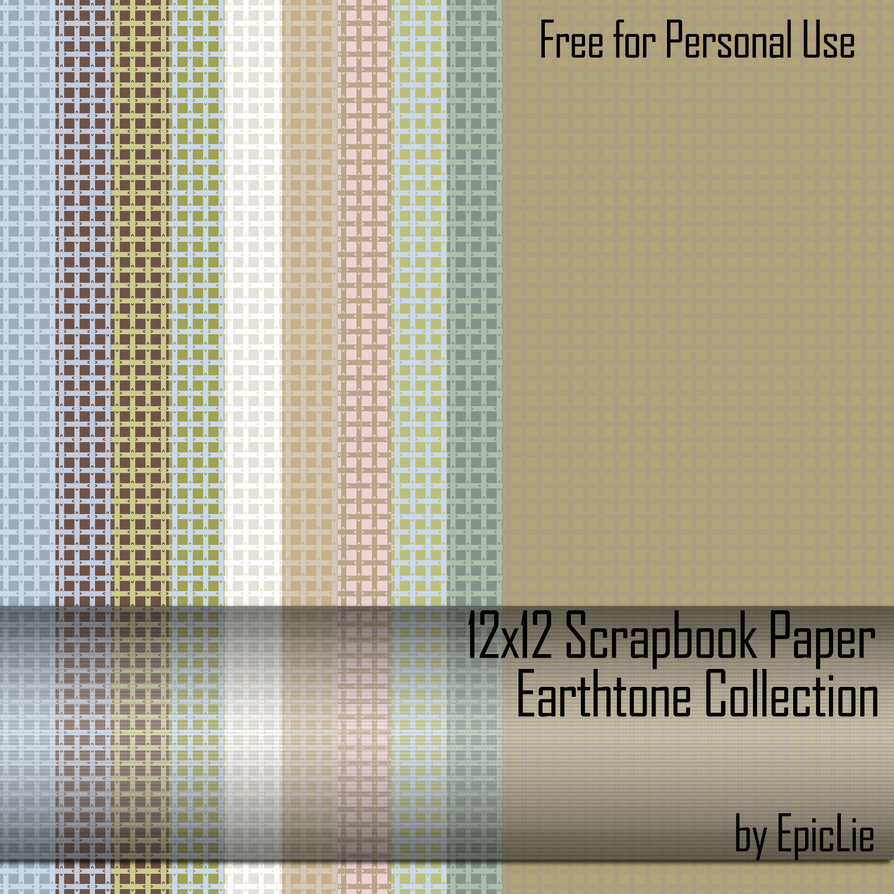 "12"" Scrapbook Paper_Earthtone1 by EpicLie"