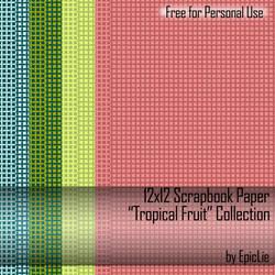 12x12 Scrapbook Paper_Tropical