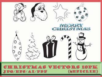 EpicLie_Christmas Vectors 10pk