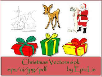 EpicLie_Christmas Vectors 6pk