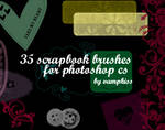 35 scrapbook brushes for ps cs