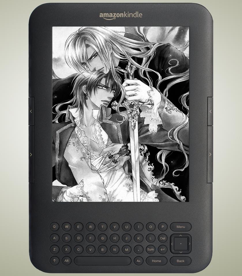Kindle Screensavers by vamp-kiss