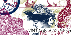 Vintage Scrap Brushes by vamp-kiss
