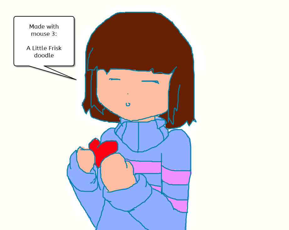 Undertale- Doodle Frisk With Mouse By TheNinjaGirlZone5 On