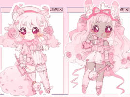Pink sketch Fluffian Adopts Auction (Closed/)