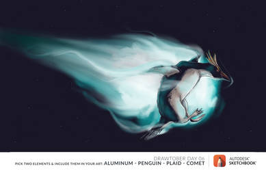 Penguin Comet by Ambrosiak