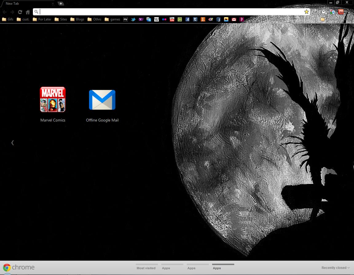 Google themes death note -  Death Note Ryuk Gc Theme By Aparnak