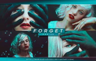 PSD COLORING  30 - [Forget] by MarinaDiaz2002