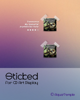 Sticked for CD Art Display by AquaTemple