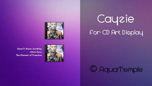 Cayzie for CD Art Display