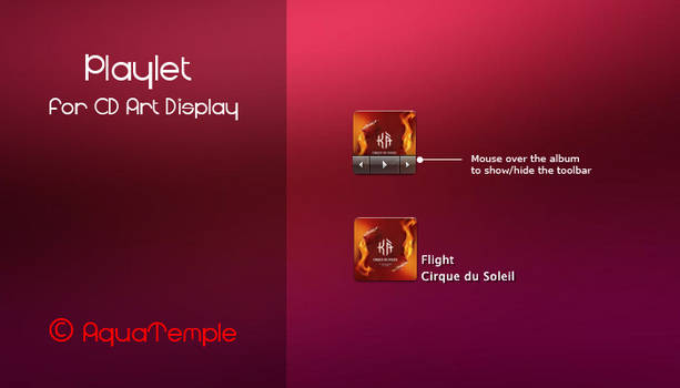 Playlet for CD Art Display
