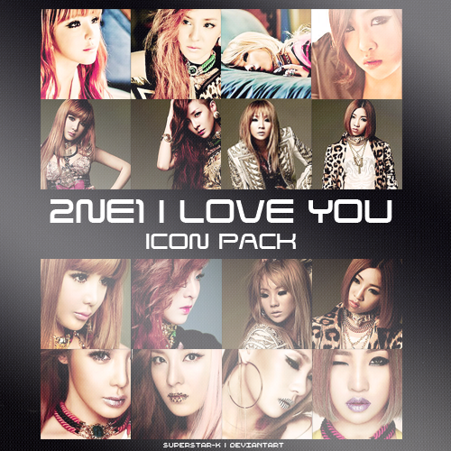 2NE1 I Love You Icon Pack by superstar-k