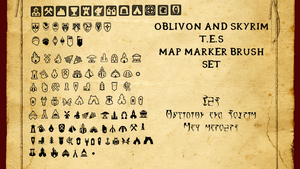Oblivion and Skyrim Map Marker Brush Set